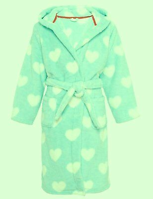 M&S girls  Heart Print & boys Star Print TWO Dressing Gowns Age YRS 6-7