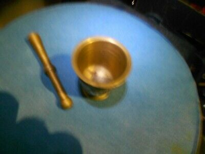 Brass Pestle and Mortar.