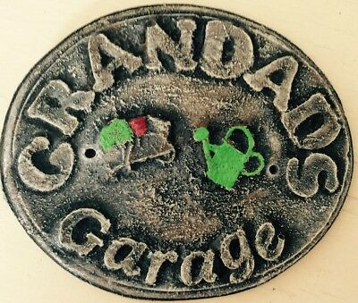 Latex Mould for making This Grandads Shed Plaque/sign
