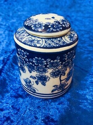 Chinese Blue And White Kangxi Style Lidded Tea Caddy