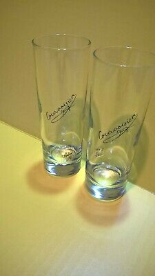 """New Highball Cocktail Collins Glass  6/"""" Etched Courvoisier Cognac Glassware"""