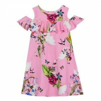 Baker by Ted Baker - Girls' pink floral print dress Elegant and beautiful RRP 30