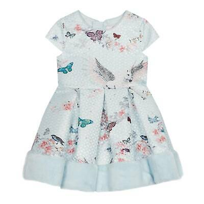 Baker by Ted Baker - Girls' Light Pink Floral Print Prom Dress £RRP45