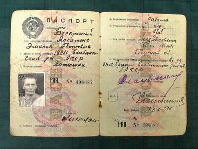 USSR Passport Personalized, Issued in USSR Russia 1960