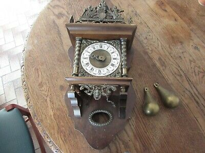Pendulum Clock Cuckoo Foret Black Recent Zaanse Klok Country Down