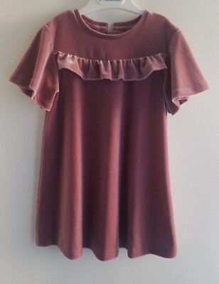 Luxury NEXT Girls Pink Velvet Special Occasion Party Dress__2-3 Years / EUR 98