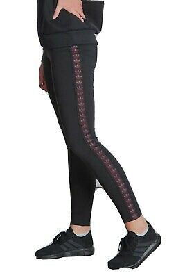 GIRLS ADIDAS ORIGINALS TAPE BLACK LEGGINGS AGE 10 - 15 kids NEW LIMITED QTY