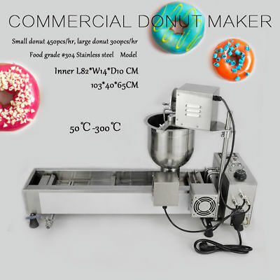 Round Donut Maker Automatic Making Machine,Wide Oil Tank,3 Sets Mold