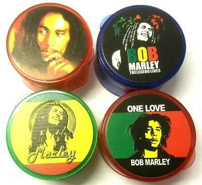 5 Part SHREDDER 60mm Shark Teeth Magnetic Tobacco Bob Marley Hand Crusher