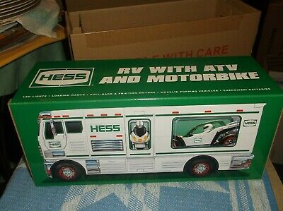 2018 Hess RV with ATV and Motorbike/Mint in box