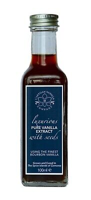 Pure Vanilla Extract with Seeds | Made with Gourmet Bourbon Vanilla | 100ml
