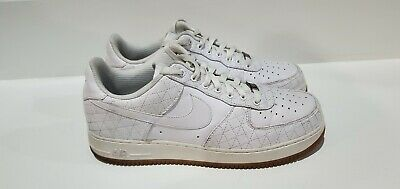 Details about Nike Air Force One Low Premium ID Mens Size 11.5 Gray Red Blue AQ3661 991 NEW