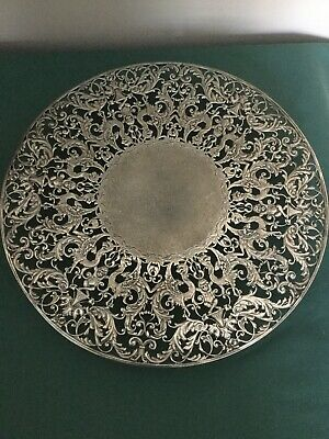Pair Of Antique J.e. Caldwell & Co Sterling Silver Openwork Footed Trays-Tazzas