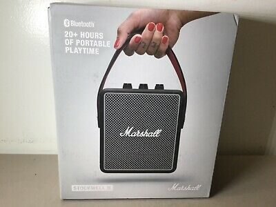 Marshall Stockwell II Portable Bluetooth Speaker - Black NEW - FREE SHIPPING