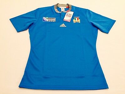 """ITALY"" CAMISETA OFICIAL JERSEY MAGLIA ADIDAS Rugby World Cup 2015 - size: L."