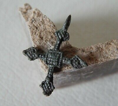 RARE Ancient Vikings Bronze Cross. Antique Cross Pendant.