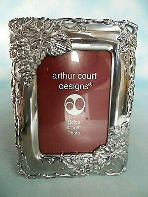 "Arthur Court Designs Photo Frame Grape Pattern Holds 4"" X 6"" Picture New"