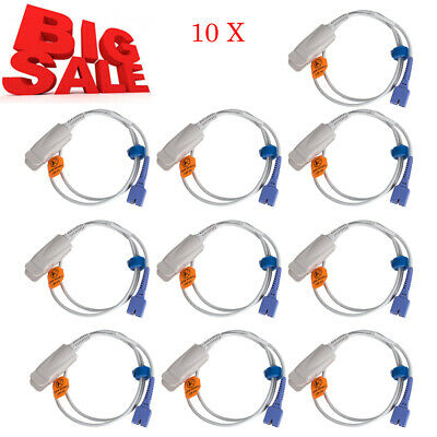 10X Pro Medical Adult Finger Clip Spo2 Probe Fit for Nellcor DS-100A 7Pins CE US