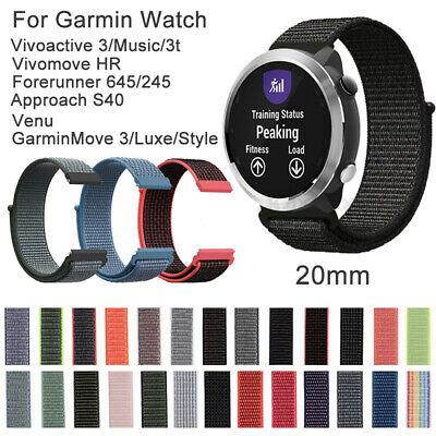 Nylon Loop Strap 20mm Watch Band Replacement for Garmin Quick Release