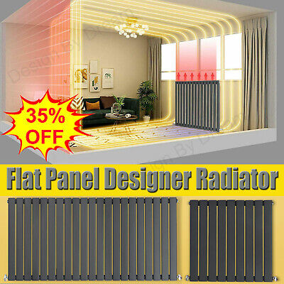Anthracite Designer Radiator Vertical Horizontal Flat Panel Oval Column Rad Grey