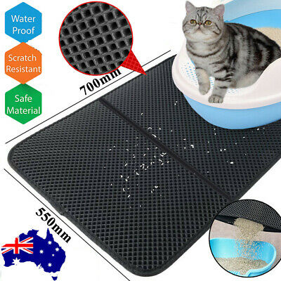 Waterproof Double-Layer Cat Litter Mat Trapper Foldable Pad Pet Rug Home Folding