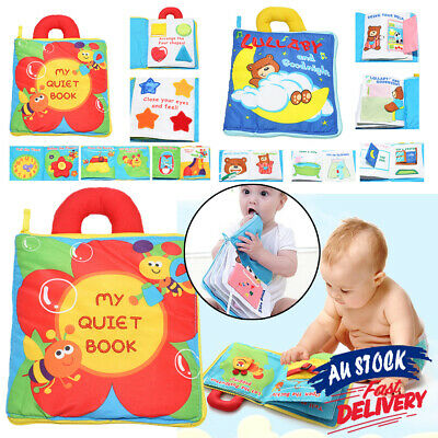 Cloth  Book Toys Baby My  Quiet Early Development Learn Education Soft