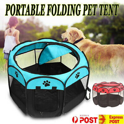 Pet Soft Playpen Dog Cat Puppy Play Large Round Crate Cage Tent Portable 2 Size