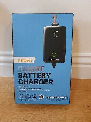 Halfords Smart Battery Charger One touch set up 4A  446040