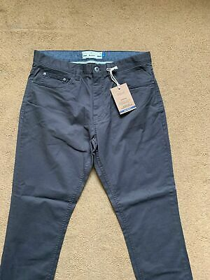 """NEXT Men's Skinny Fit Jeans Style Grey Chinos Trousers, Size 32S, W32"""", L29""""."""
