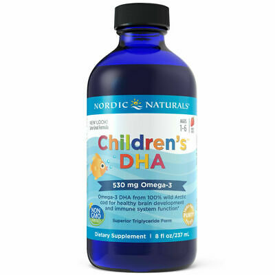 Nordic Naturals Children's DHA Liquid 237 ml - Omega-3 DHA Fish Oil For Ages 1-6