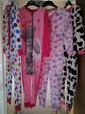 George GIRS 4 Nightwear Jumpsuits for Age 5-6 YRS USED