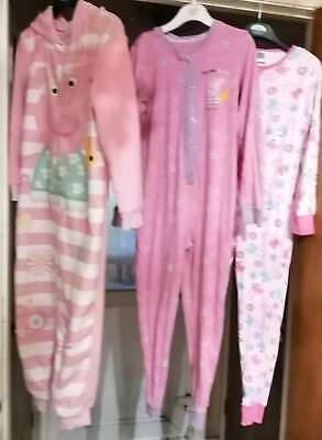 M&S & George GIRLS 3 Peppa Pig Nightwear Jumpsuits for Age 5-6 YRS USED