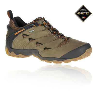 Merrell Mens Chameleon 7 GORE-TEX Walking Shoes Brown Grey Sports Outdoors