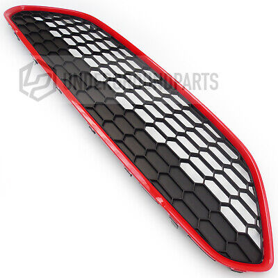 Ford Fiesta Mk7 Black Edition Red Zetec S Honeycomb Front Bumper Top Main Grille