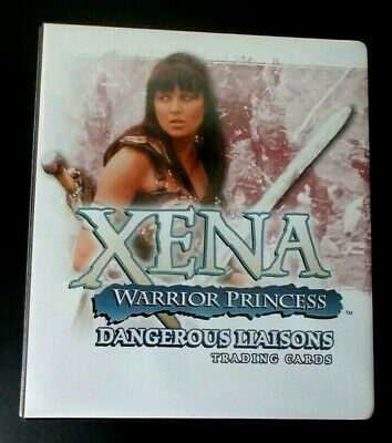 Xena Warrior Princess Dangerous Liaisons trading cards binder album, no cards