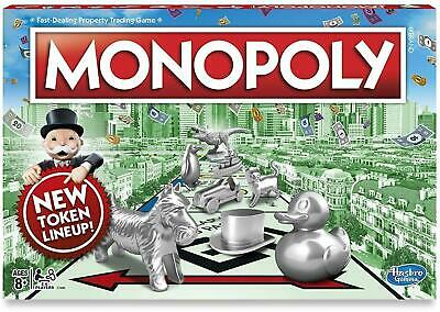 Original Genuine Hasbro Monopoly Classic Edition Traditional Family Game (Single