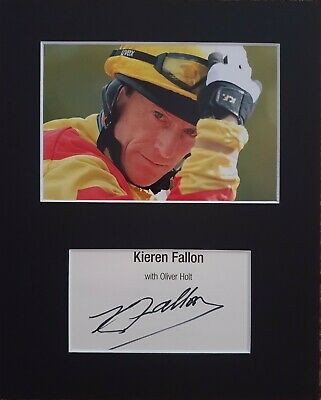 Kieren Fallon 'British Champion Jockey' hand signed in person mounted autograph.