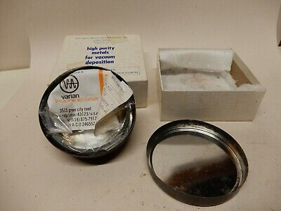 Varian Specialty Metals Division Molybdenum Ring Target 3 1/8 OD 1/8 Wall 99.95%