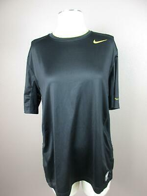 Nike Pro Combat Size L Black Mens Dri Fit Athletic Fitted Running Top 425