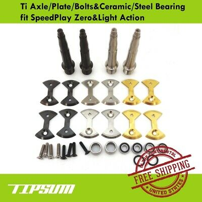 Tipsum Speedplay Pedal Ti Titanium Axle /& Ceramic Bearing Fit Light Action//Zero