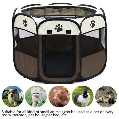 Pet Playpen Dog Cat Large Round Crate Cage Tent Outdoor Exercise Kennel Portable