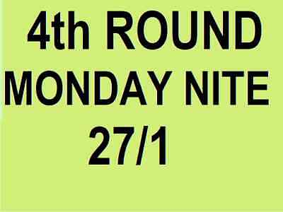 AUSTRALIAN OPEN TICKETS ~ 4th ROUND ~ MONDAY 27 JAN 27/1 MON