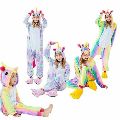 Kigurumi Animal Rainbow Pyjama Cosplay Costume Kids Pajamas Unicorn Sleepwear