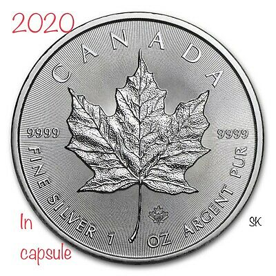 2020 Canadian Maple 1 oz Silver Coin