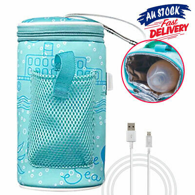 Baby Bottle Warmer Travel Heater Bag Pouch Portable Feeding Thermostat USB Milk