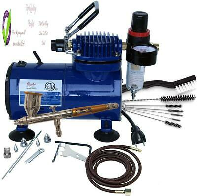 Paasche Tg-100D Gravity Feed Airbrush & Compressor Packa