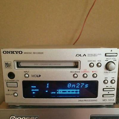 ONKYO INTEC 155 MD deck silver MD-101A S Japan