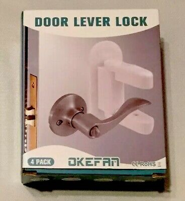 Door Lever Lock Safety Child Proof Doors Adhesive Lever Handle Lock 4-Pack NEW