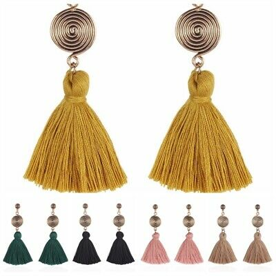 Bohemia Vintage Fashion Retro Long Tassel Stud Earrings Women Charm Jewelry Hot