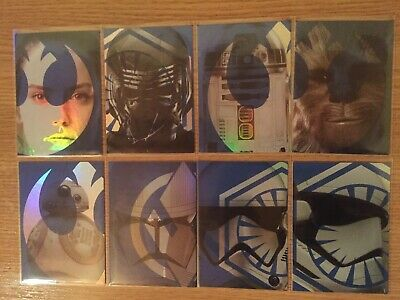 Topps Journey To Star Wars The Rise Of Skywalker Set 8 Cartes Foil Character
